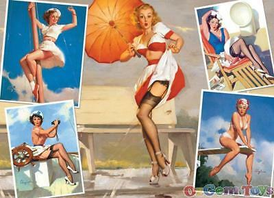 Seaside Attractions Cobble Hill Jigsaw Puzzle 1000 Piece by Gil Elvgren