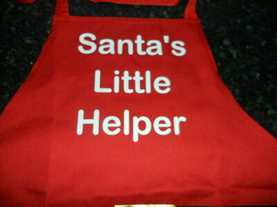 Novelty Apron - Christmas - New - Santa's Little Helper - One Size - Red