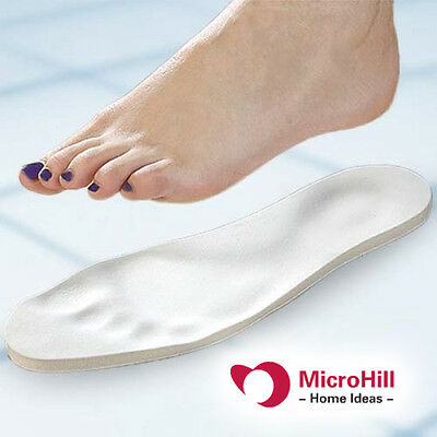 MEMORY FOAM SHOE INSOLES with Extra Comfort padded for foot feet unisex [TV]