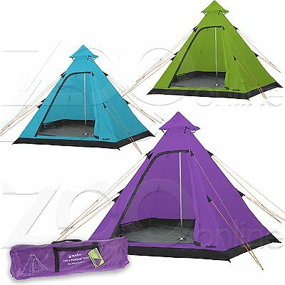 Summit Hydrahalt Tipi Tent 4 Person Berth Festival Camping Family Holiday 1500Hh