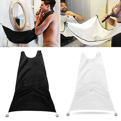 NEW Man Bathroom Beard Care Trimmer Hair Catcher Shave Apron Gown Sink Tool