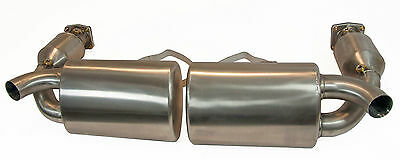 Porsche 911 997 Turbo Performance Stainless Steel Exhaust with 200 Cell Cats