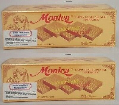 2 Monica Lapis Legit Special Keju Layer Cake Special Cheese snack Halal