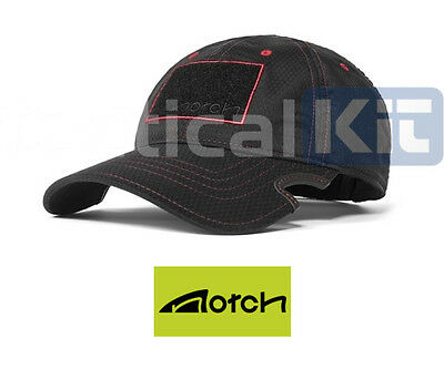 Notch Classic Adjustable Athlete Black/Red Baseball Sports Cap Free UK Delivery