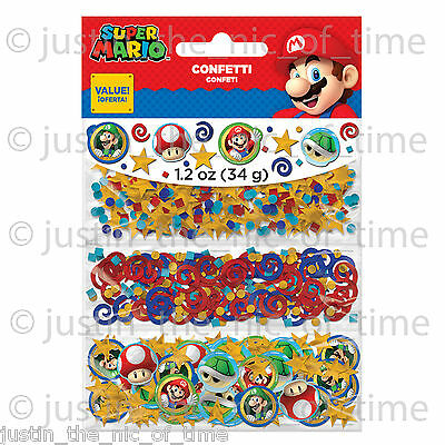 SUPER MARIO Boys Girls Birthday Party Supplies Decorations Sprinkles CONFETTI