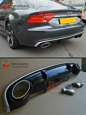 New Rs7 Type Gloss Black Diffuser With Silver | Audi A7 2011 -2014 Se Models