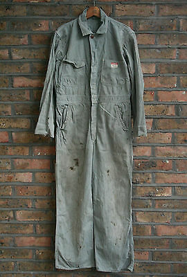 VTG 50s 60s BIG MAC PENNEYS SANFORIZED GREEN DENIM WORK COVERALLS USA 38S
