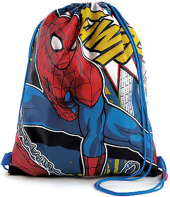 Marvel Ultimate Spiderman Drawstring Gym Trainer PE Bag