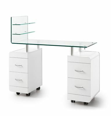 Urbanity pro professional salon manicure nail beauty station table unit white