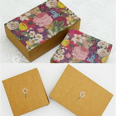 10pcs Colorful Box Wedding Party Candy Cake Gift Boxes Hundred Flowers Blossom