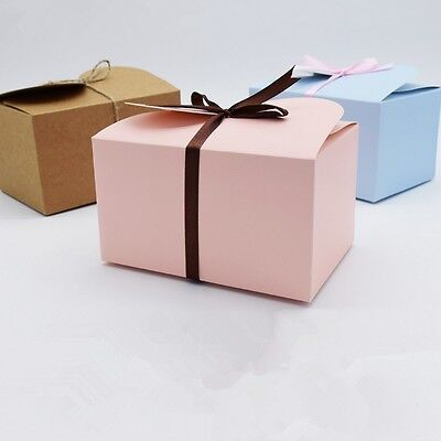 10pcs Colorful Paper Box Wedding Party Candy Cake Gift Boxes Butterfly Ears