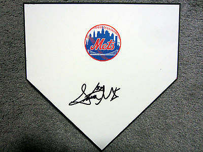 STEVEN MATZ New York Mets Pitcher SIGNED Autographed Home Plate Base w/COA