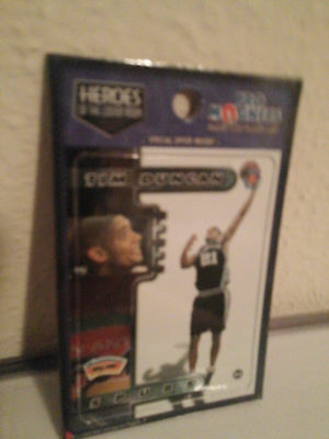 Lot of Five Tim Duncan Heroes of Locker Room Lakers Pro Magnets Card Magnetized