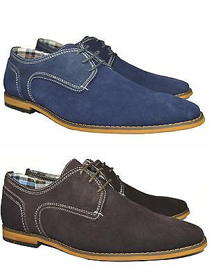 Men's Real Leather Suede Casual formal popular comfortable Shoes Lace-Up