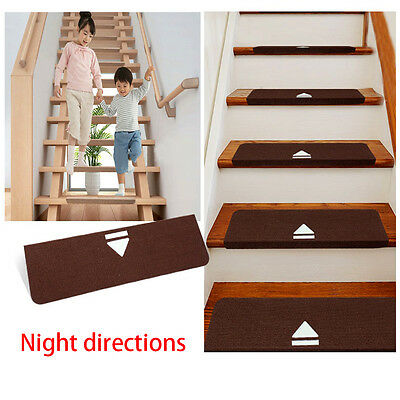 """Stair Treads Staircase Night Light Luminous Carpets Home Mats Rugs Pads 8""""x28"""""""