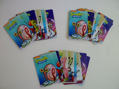 SpongeBob Card Arcade Coin Pusher Game 3 FULL Sets Dave & Busters Rare Gary Card