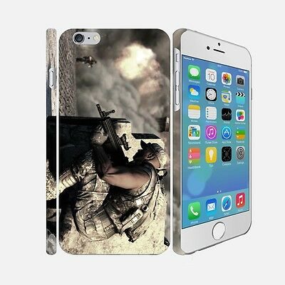 F007 ARMY - Apple iPhone 4 5 6 Hardshell Back Cover Case