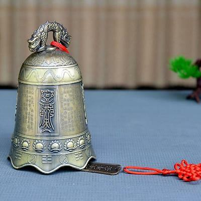 China FengShui beautifully carved Dragon Buddha bell decoration Wind chimes