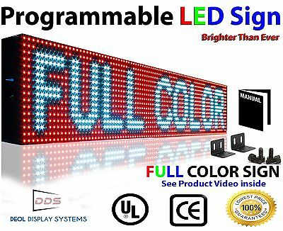 """RGB USB Programmable 7"""" x164"""" Full Color Image Logo Text Open Close Display Sign"""