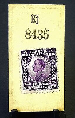 "Cigarette Card Godfrey Phillips Ltd ""Stamps"" Purple Slovenia c1930's Exc Cond 86"
