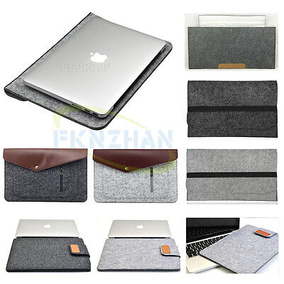 """Wool Felt Soft Envelope NoteBook Bag Sleeve Pouch Case Cover For 14"""" inch Laptop"""
