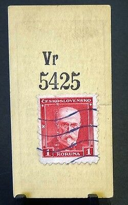 Cigarette Card Godfrey Phillips Ltd Stamps Checkoslovakia 1 Koruna Red VGC 86