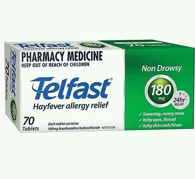 3×Telfast 180mg 70 tablets - CHEAPEST- OzHealthExperts