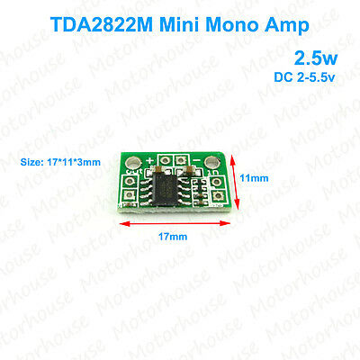 DC3V 5V TDA2822M Micro Mono Audio Power Amplifier Board Mini Mono Channel Module