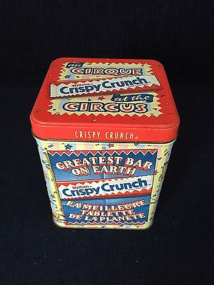 Collectible Crispy Crunch At The Circus Tin Empty