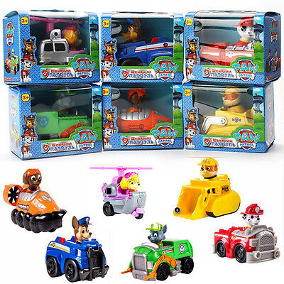Cute Paw Patrol Action Figures Doll Racer Car Kids Baby Boy Girl Toy Xmas Gift