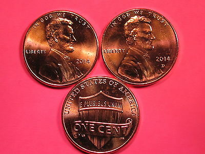 2014 P&D - Lincoln Shield Cent Set - Brilliant Uncirculated Gems