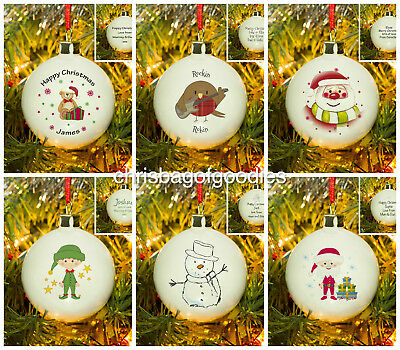 PERSONALISED UNIQUE Christmas Tree BAUBLE Baubles Present Gift Idea for Him Her