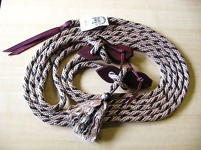 SILVERTIP 22' Mecate Reins w Knot + Tassel AND Teardrop Slobber Straps TAN BROWN