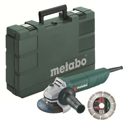 """Metabo W750-115 750w 4.1/2"""" (115mm) Angle Grinder + Diamond Blade and Case-110V"""