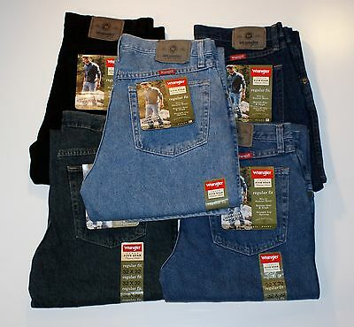 New Wrangler Five Star Regular Fit Jeans Men's Sizes Five Colors Available