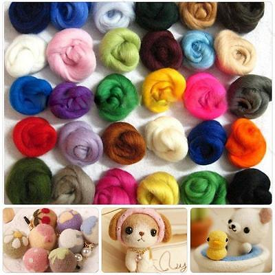 36 Colors Wool Fibre Yarn Roving Wool Felting for Needle Felting Hand Spinning