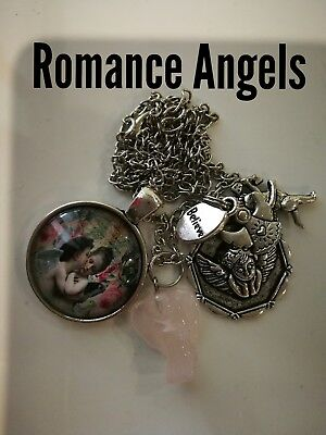 Code 437 Romance Angels Rose Quartz Angel Charged n Infused Necklace Cupid Gift