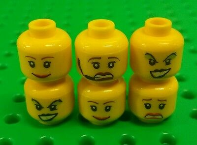 *NEW* Lego Bulk Heads Female Faces Girl Mini Figures Women People Figs 6 pieces