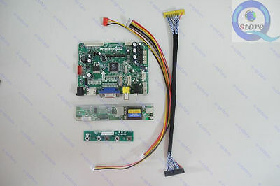 HDMI+AV+VGA+USB Controller Driver Board Kit for Laptop LCD Panel LP141X3 monitor