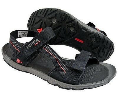 Adidas Mens Terra Sports II Sandals Strapped Velcro Walking Shoes Black Size 11