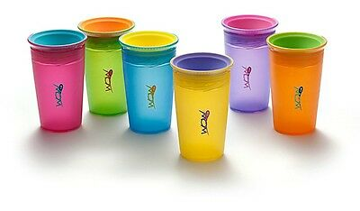New WOW Baby Cup Juicy Blue Pink Green Purple No BPA Spill Free Toddler Drinking