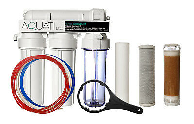 4 Stage RO Reverse Osmosis with DI Resin Chamber 50/75/100/150 GPD Deionization
