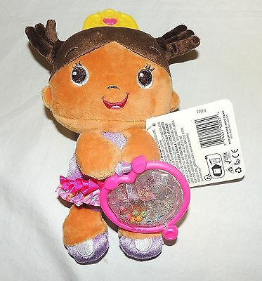 NEW Baby Girl Princess African American Rattle Baby Toy Plush Purple Teether