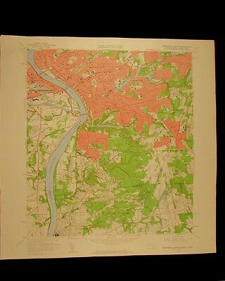 Springfield South Massachusetts Connecticut 1960 USGS Topographical chart