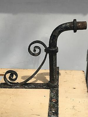 19th century Wrought Iron Wall Lantern Bracket