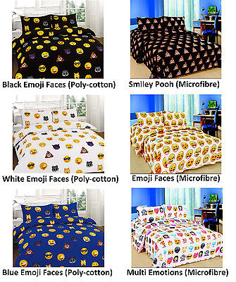 Emoji Icon Emotions Duvet Cover Smiley Pooh Printed Duvet Cover Bedding Set