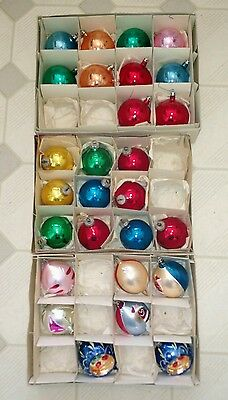 Antique glass Christmas tree ornaments from East Germany and Poland