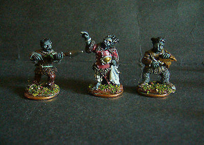 ral partha dungeons & dragons 3x dark dwarf miniature painted citadel Very Rare