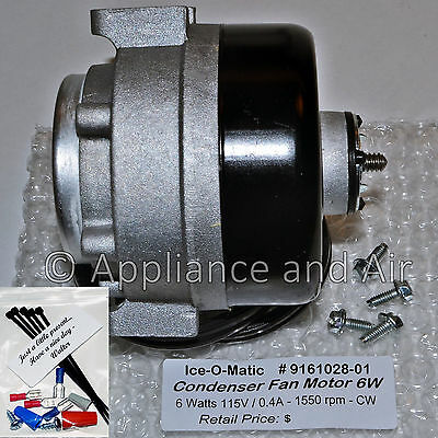 Ice-O-Matic Crystal Tips 9161028-01 115V Condenser Fan Blower Motor SHIPS TODAY!