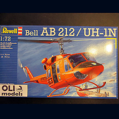 1/72  Bell AB 212/UH-1N TWIN HUEY Helicopter - Revell 4654